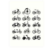 bike pattern Bicycle madness Art Print