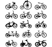 bike pattern Bicycle madness Photographic Print