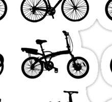 bike pattern Bicycle madness Sticker