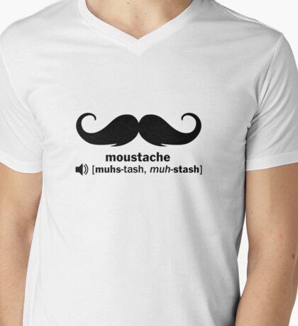 moustache - muhs-tash, muh-stash Mens V-Neck T-Shirt