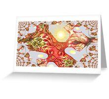 Heartsease Fractal Greeting Card