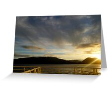 Sun Setting on Deck Greeting Card