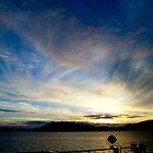 Sun Setting on Deck #2 by Fredda Gordon