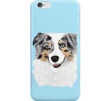 Toby ~ Australian Shepherd ~ Oil Painting iPhone Case/Skin