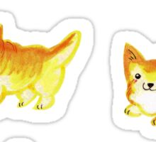 Watercolor Corgi Sticker