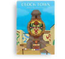 Majora's Mask - Clock Town Poster Canvas Print