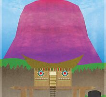 Majora's Mask - Woodfall Poster by jindesign