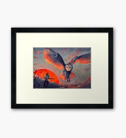 Owl Hunt Framed Print