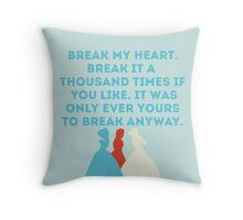 The Selection Throw Pillow
