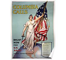 Columbia calls Enlist now for US Army Poster