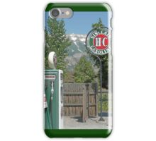 Vintage gas pumps and sign iPhone Case/Skin