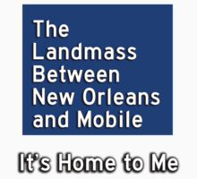 The Landmass Between New Orleans and Mobile 2 One Piece - Short Sleeve