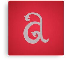 Lowercase A Canvas Print
