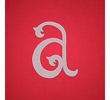 Lowercase A Photographic Print