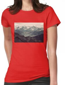 Mountain Fog Womens Fitted T-Shirt