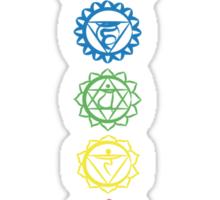 seven chakra symbols Sticker