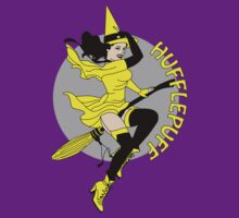 Hufflepuff Pin Up Witch T-Shirt