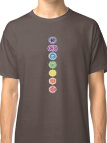 seven chakras vertical (dark tee) Classic T-Shirt
