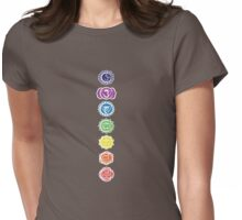 seven chakras vertical (dark tee) Womens Fitted T-Shirt