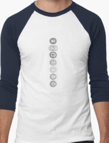 seven chakras (neutral greys) Men's Baseball ¾ T-Shirt