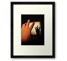 Reaching for the Shadow Framed Print