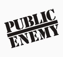 Public Enemy replica black text by philmart