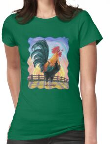 Animal Parade Rooster Womens Fitted T-Shirt