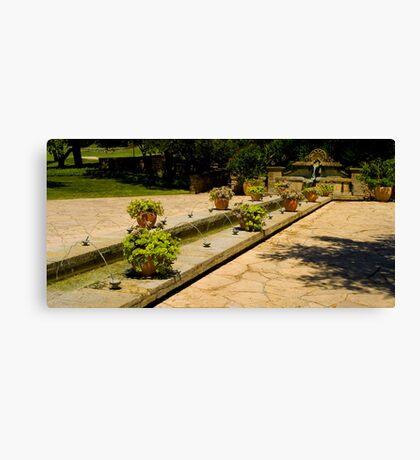 Fountain Plaza Canvas Print