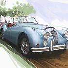 Jaguar XK 140 by RGMcMahon