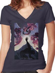 Das Rheingold Women's Fitted V-Neck T-Shirt