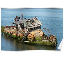 Dilapidated Boat Poster