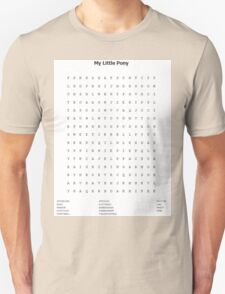 My Little Pony Word Search T-Shirt
