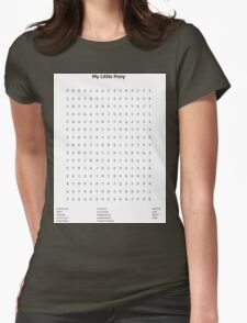 My Little Pony Word Search Womens Fitted T-Shirt