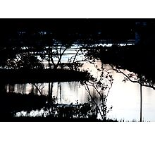 Mirrored in the dark waters Photographic Print