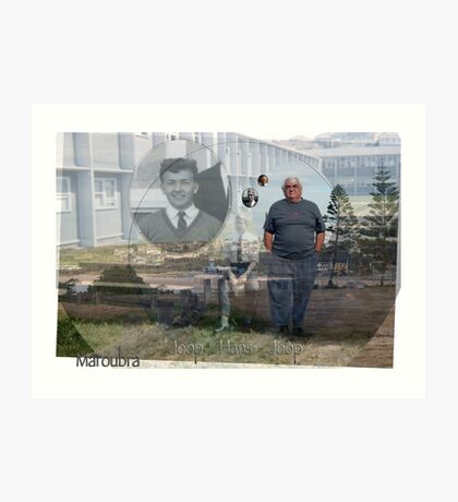 Maroubra, the high school, the fifties, the hostel, time's moved on.  Art Print