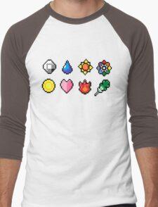 Indigo League Badges Men's Baseball ¾ T-Shirt