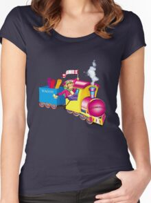 train and car Women's Fitted Scoop T-Shirt
