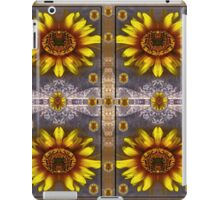 sunflower fields on lace forever pop art iPad Case/Skin
