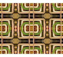 wire matrix collage Photographic Print
