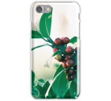 Holly bush with red berries iPhone Case/Skin