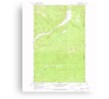 USGS Topo Map Washington State WA Aladdin 239771 1966 24000 Canvas Print