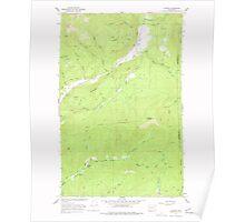 USGS Topo Map Washington State WA Aladdin 239771 1966 24000 Poster