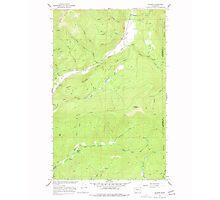USGS Topo Map Washington State WA Aladdin 239771 1966 24000 Photographic Print