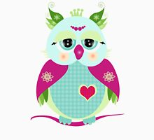 Purple owl Womens Fitted T-Shirt