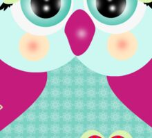 Purple owl Sticker