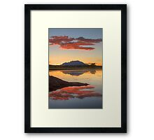 Red Over Head Framed Print
