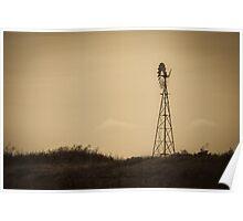 Windmill - Well Plains, QLD Poster