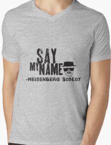 Say my Name. Heisenberg. Mens V-Neck T-Shirt