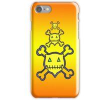 Percentum Skull & Xbones (sunset) iPhone Case/Skin