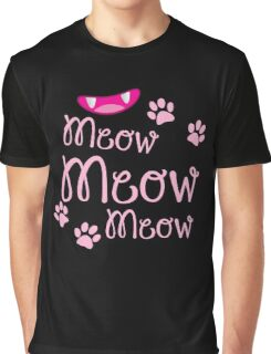 Meow Meow Meow cute kitty cat with kitty nose Graphic T-Shirt